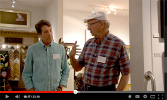 Raoul Middleman Troika Gallery talk video
