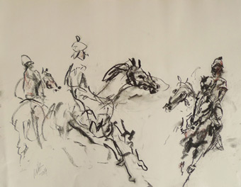 Raoul Middleman Horse drawings gallery