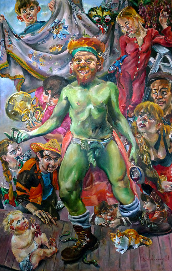 Raoul Middleman painting, Bacchus