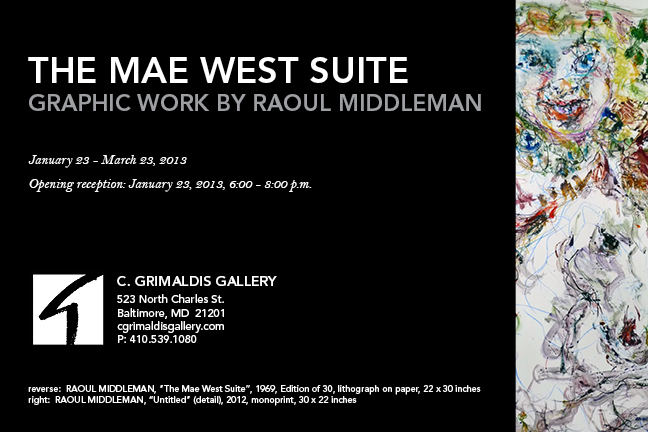Invitation to The Mae West Suite by Raoul Middleman